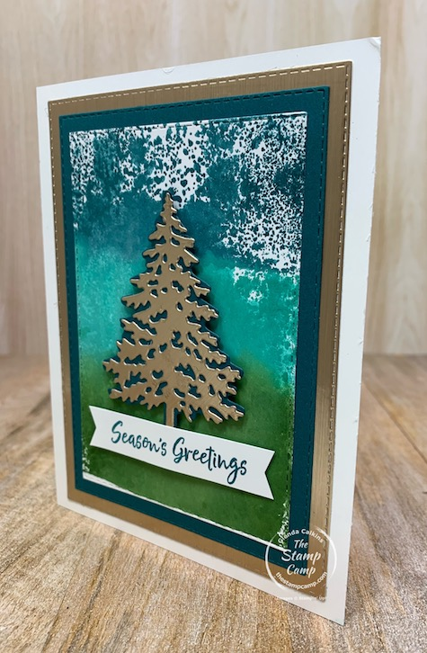 It's Technique Tuesday and I have a fun technique to show you using a Clear Block 3 ink pad colors and the Spritzer. Every time you do this technique you will get different results which is 1/2 the fun to see what you get. #stampinup #thestampcamp #technique #Christmas
