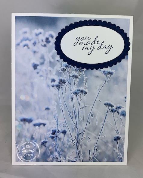 The Feels Like Frost Specialty Designer Series Papers are beautiful and they are NOT just for Christmas cards. The prints in this pack can be used for many different occasions. The pictures are so life like and beautiful. #stampinup #thestampcamp #feelslikefrost