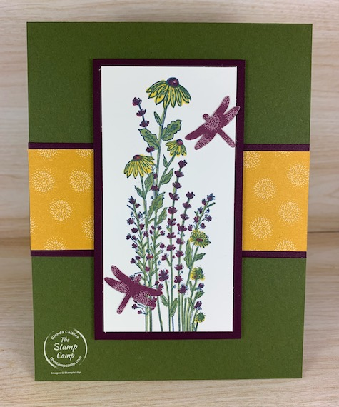 The Dandy Garden Suite of products from the January - June 2021 mini catalog is a hit! Have you gotten your bundle of products yet? The 6 X 6 Dandy Garden Designer Paper is beautiful and some sheets coordinate with the Dragonfly punch. #thestampcamp #stampinup #dandygarden #dragonfly