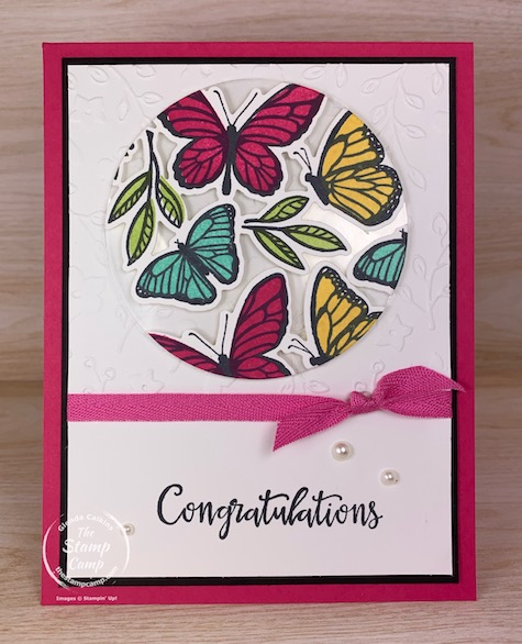Technique Tuesday this week is the Floating Elements technique. I chose the new Floating & Fluttering stamp set to create this fun floating butterfly card. #thestampcamp #stampinup #technique