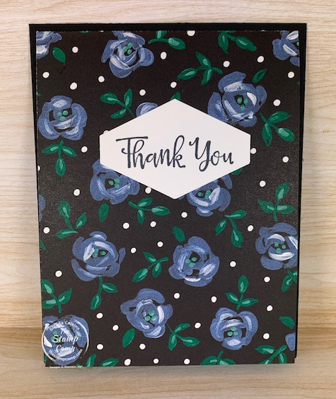 This is the quickest and easiest card you will ever create! Anyone can create this type of card! I call it the Fold and Go! #stampinup #thestampcamp #funfold #designerpaper