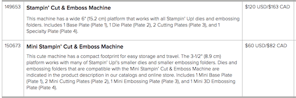 Cut and Emboss Machines from Stampin' Up! Get yours today! #thestampcamp #stampinup #cutandemboss