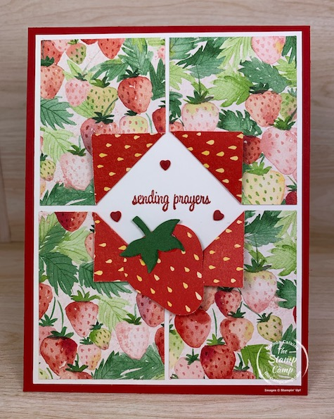 Today's fun fold is not a card fun fold but a Designer Series paper fun fold. You can do this technique with any printed papers but it is so beautiful in the Berry Delightful paper from Stampin' Up! #thestampcamp #saleabration #stampinup #funfold