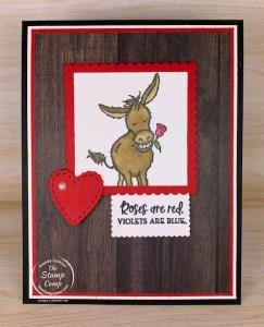 Saturday Sketch Darling Donkeys for Valentine's Day