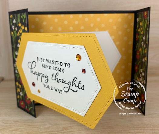 It's Fun Fold Friday and I'm calling this fun fold the Stitched Nested Bridge card. It uses the Stitched Nested Dies and they create a bridge from one side of the card front to the other. #stampinup #thestampcamp #funfold #stitchednesteddies