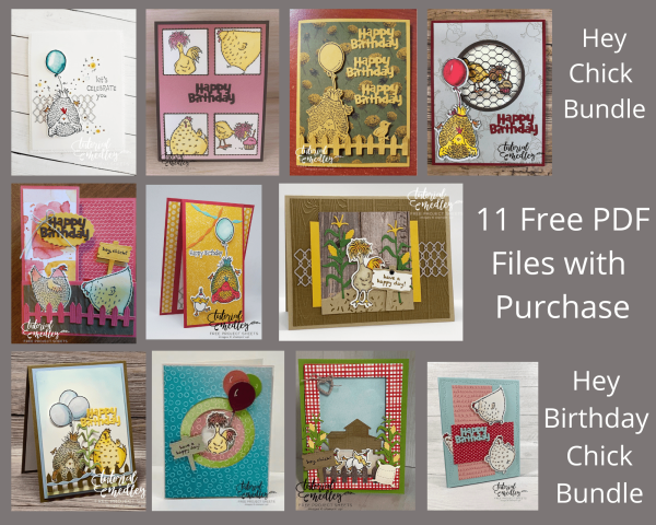 Featured Bundles for this month are the Hey Chick and Happy Birthday Chick bundles with some awesome fun dies to go with these stamp sets. You are going to love creating some fun fold cards with these bundles. FREE PDF file with purchase. #thestampcamp #stampinup #heychick #happybirthdaychick