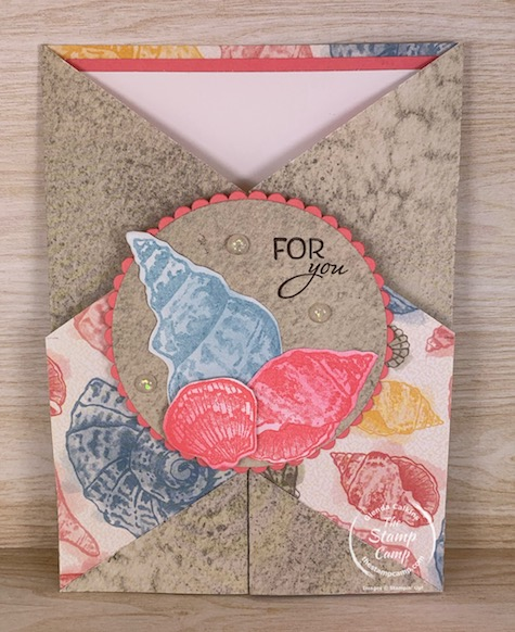 This week's Saturday Sketch is from Splitcoaststampers SC844. It is a Double Dutch fold with a twist. You can find the tutorial on Splitcoaststampers. I also have a video on this technique on my blog. #thestampcamp #stampinup #sketch