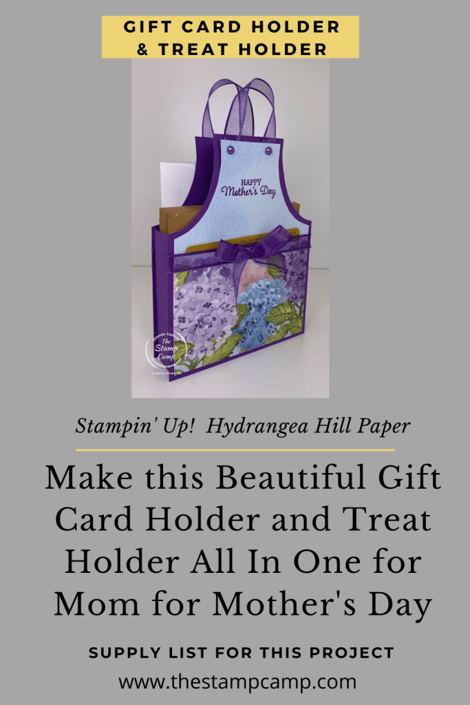 Make It Monday Today I'm going to show you how to create a Mother's Day Gift that all Mom's would love to Receive! Who doesn't like Chocolates and Gift Cards? #thestampcamp #stampiup #mothersday