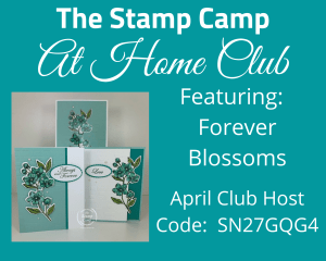 This month's Stamp Camp At Home Club Kit features the Forever Blossoms Bundle from Stampin' Up! You will create 3 cards with this months card kit each a bit stepped up from the next. Easy enough for the beginner stamper with my tips and techniques. #thestampcamp #stampinup #cardkit
