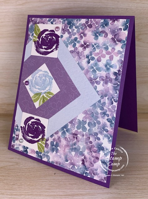 Saturday Sketch is from Splitcoaststampers and features the Beautiful Friendship stamp set and the Hydrangea Hill Designer Series Papers. #thestampcamp #stampinup #sketchchallenge