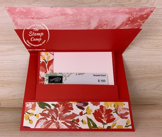 Need a super sweet gift card holder for Mother's Day or maybe a Birthday? Check out this Slide Up, Pop Up gift card holder. Just in time to create it for Mother's Day! #thestampcamp #stampinup #giftcardholder