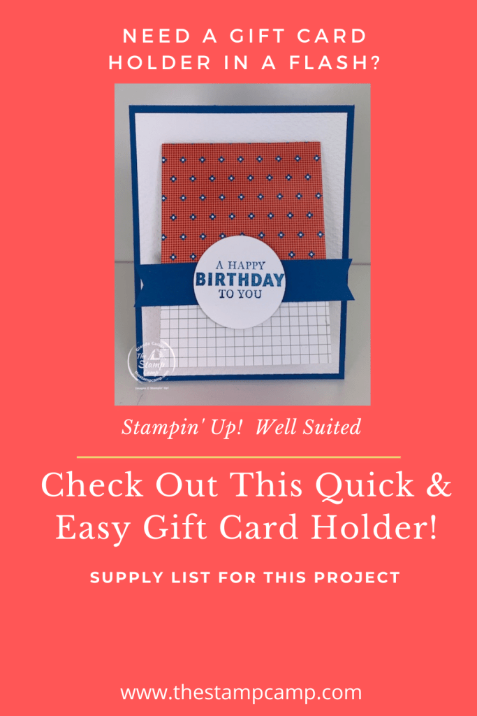 Stampin Up Well Suited