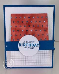 Stampin' Up! Well Suited Papers Create a Gift Card Holder in a Flash