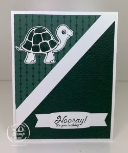 A Basic In Color Card With The Turtle Friends Bundle