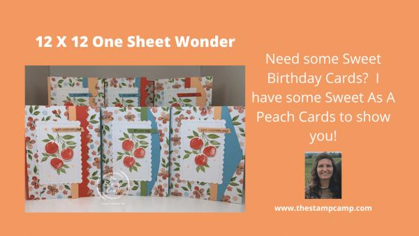 Sweet As A Peach Cards