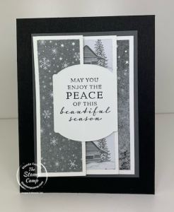Panel Pull-Out Fun Fold Card With Peaceful Cabin Stamp Set
