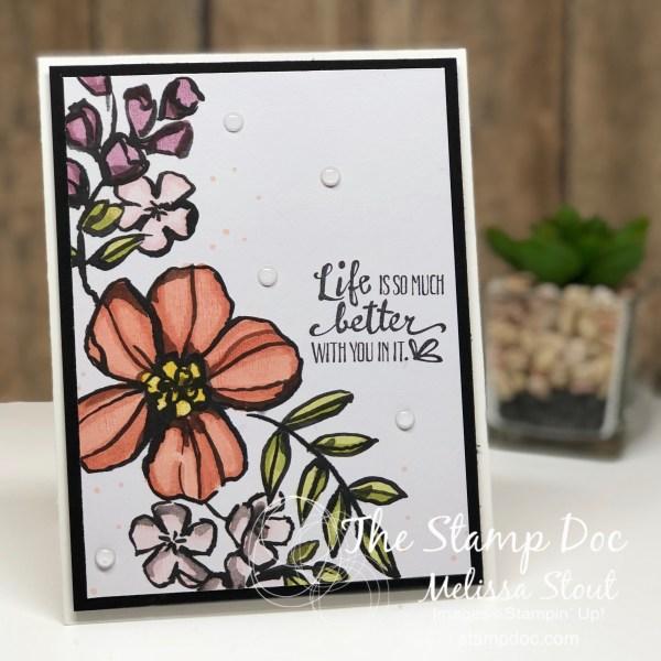 Memories & More Petal Passion Card