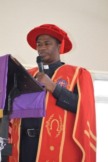 Rugyendo addressing students at a recent graduation ceremony