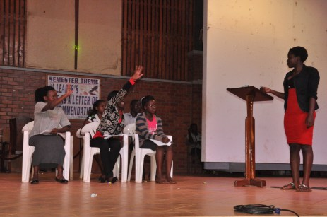 The students act out a skit during the talent show (Photos by Doreen Kajeru)