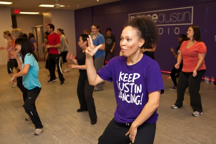 Chi Chi not only instructs classes, but she takes them also.