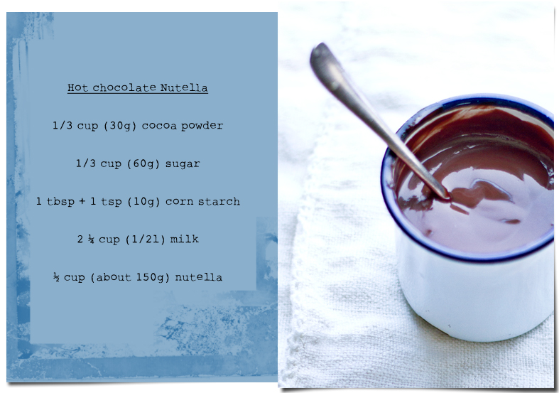 nutella hot chocolate dipped churros
