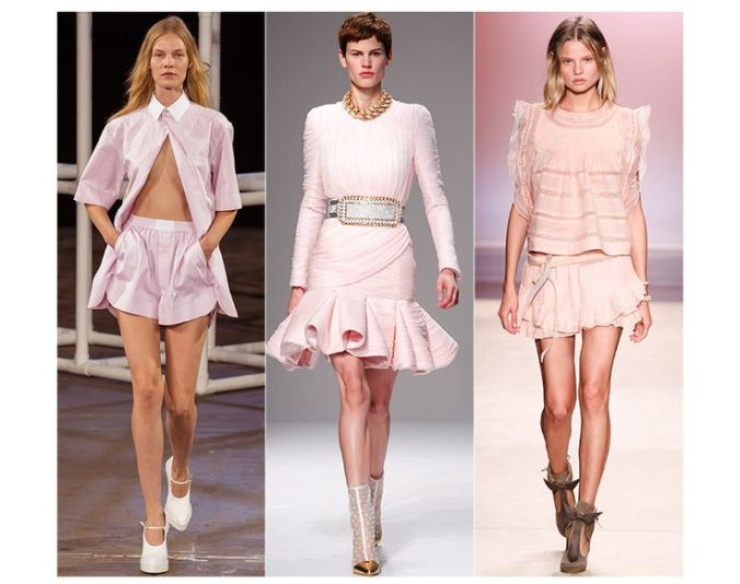 Powder Pink Fashion Trend SS14: Alexander Wang, Balmain, Isabel Marant