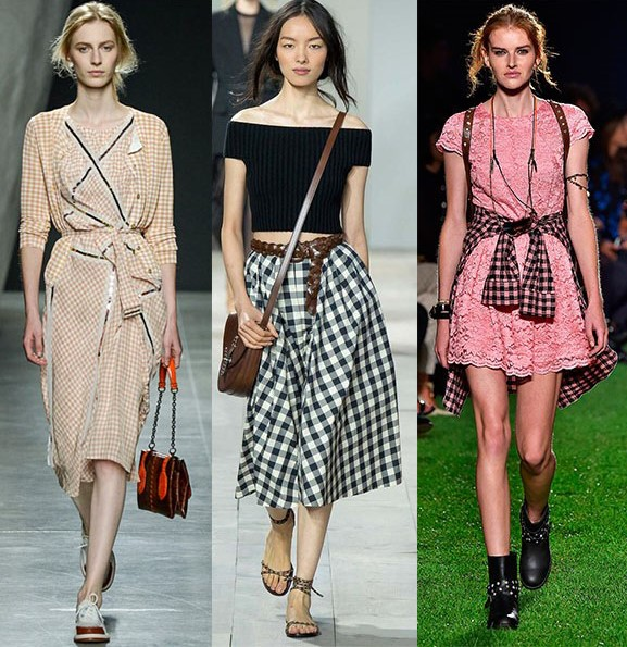 Gingham Fashion Trend SS15, Bottega Veneta, Michael Kors, Blugirl, New York Fashion Week