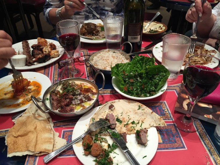 Banquet dinner at Maroush Restaurant