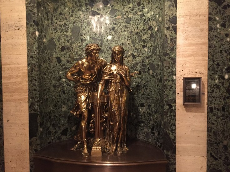 "At the top of the stairway in the Palmer House foyer are ""Romeo & Juliet"", a statue that has greeted Palmer House guests since 1924"