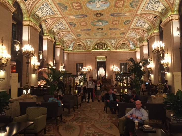 Inspired by her French heritage, Bertha filled the Palmer House with artistic treasures, including the world-famous lobby topped with a magnificent ceiling of Grecian frescoes by French muralist Louis Pierre Rigal
