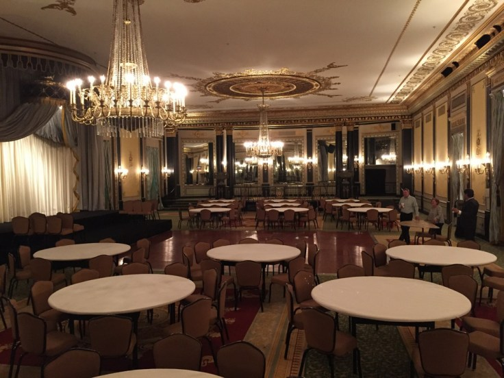 The hotel has 7 beautiful ballrooms, the largest accommodating 1,200 for banquets.