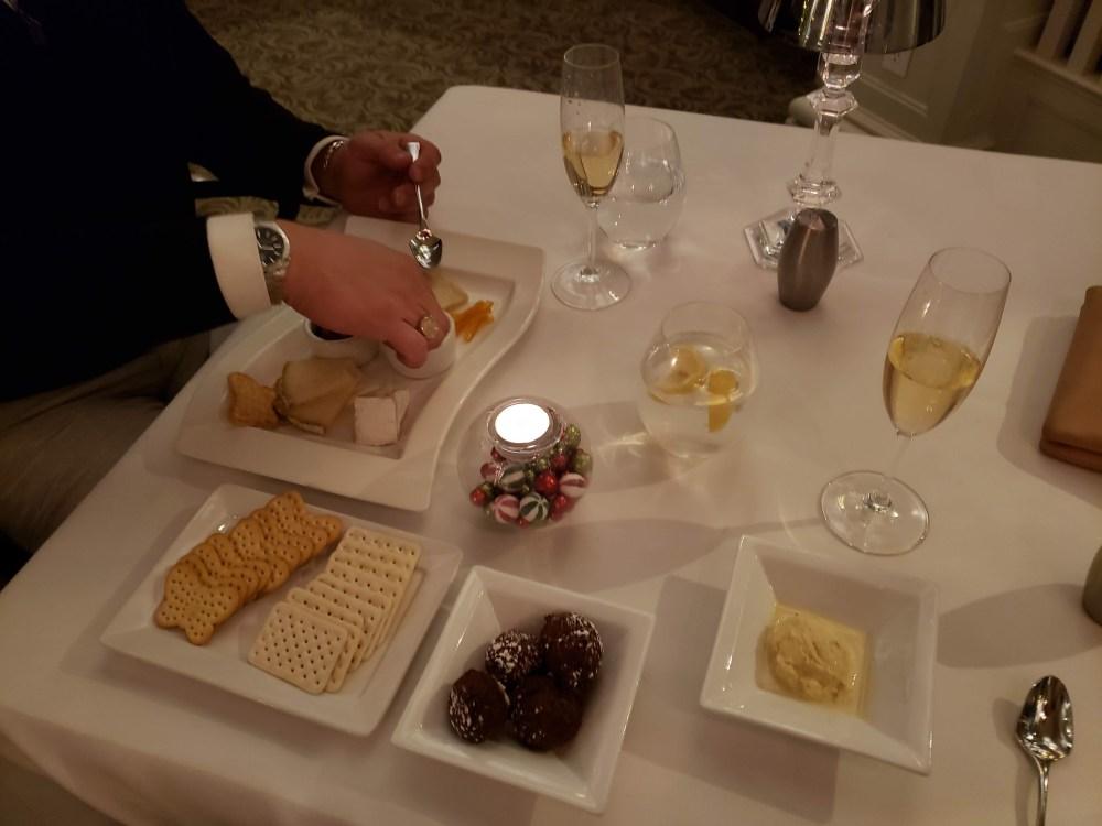 Dinner at Vanderbilt grace, newport