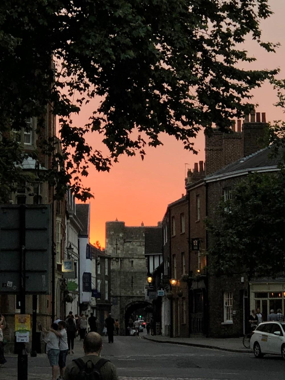 Sunset in York
