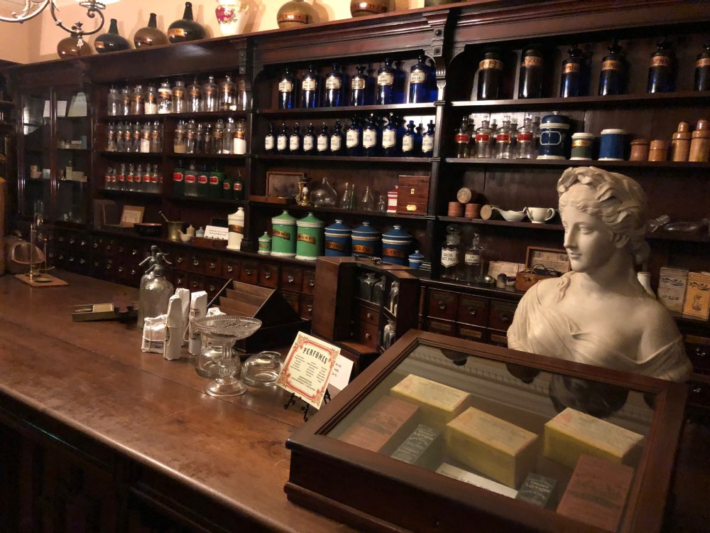 Apothecary shop in The York Castle Museum