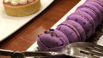 Purple pastries at an African Brunch