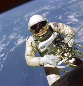 Ed White, conducting America's first spacewalk