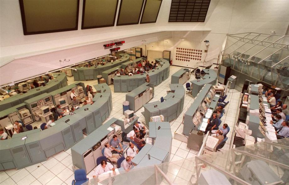 Firing Room 1 configured for space shuttle launches - Source: