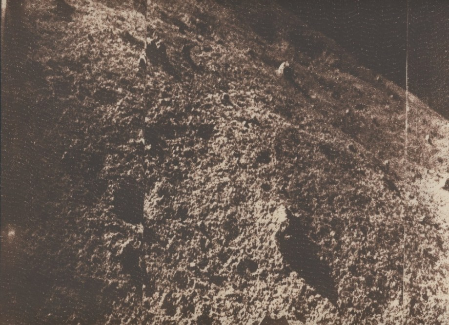 One of the first images taken from the Moon's surface