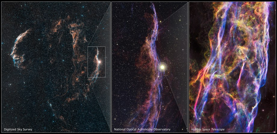 Cygnus Loop and Veil Nebula