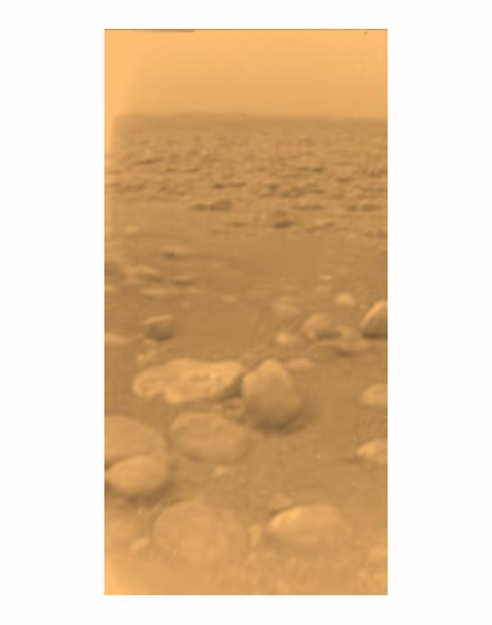 First color photo from Titan's surface