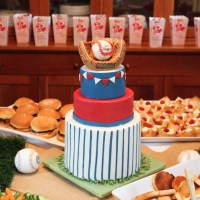 A Baseball Baby Shower Cake