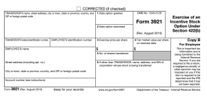 Copy B Form 3921