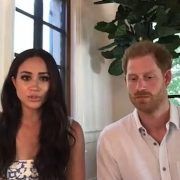 The Duke and Duchess appeared to offer their largest glimpse into their opulent new home yet as they appeared in a video call for the Queen