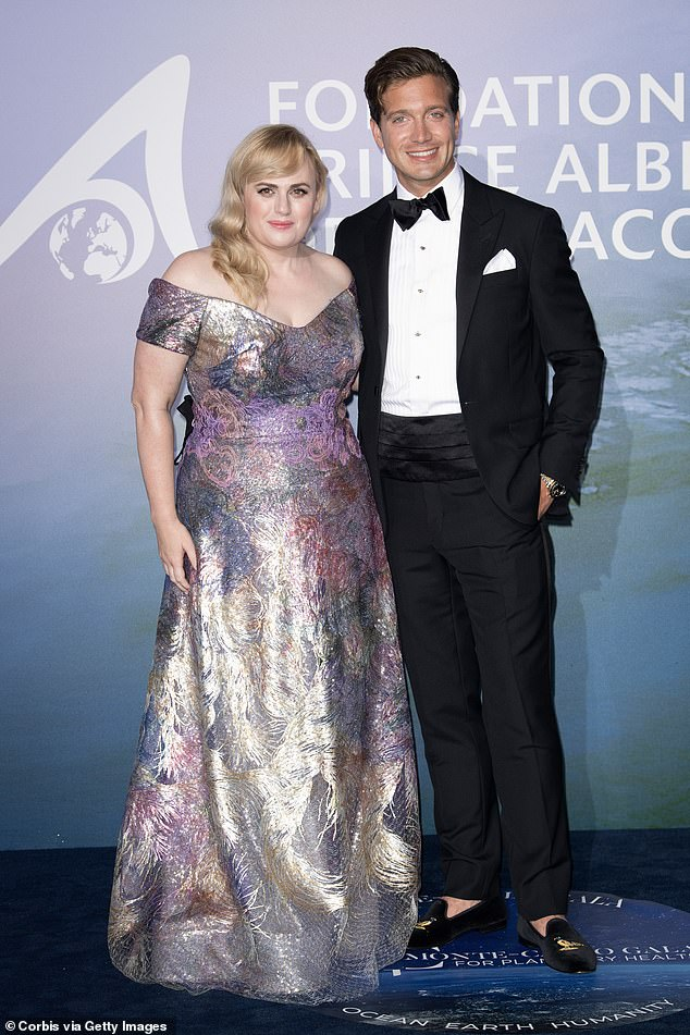 New couple: Rebel and her new boyfriend Jacob Busch,29, made their red carpet debut at the Planetary Health Gala in Monaco on September 24.Jacob's family founded the Anheuser-Busch brewery, which produces America's most popular beer, Budweiser