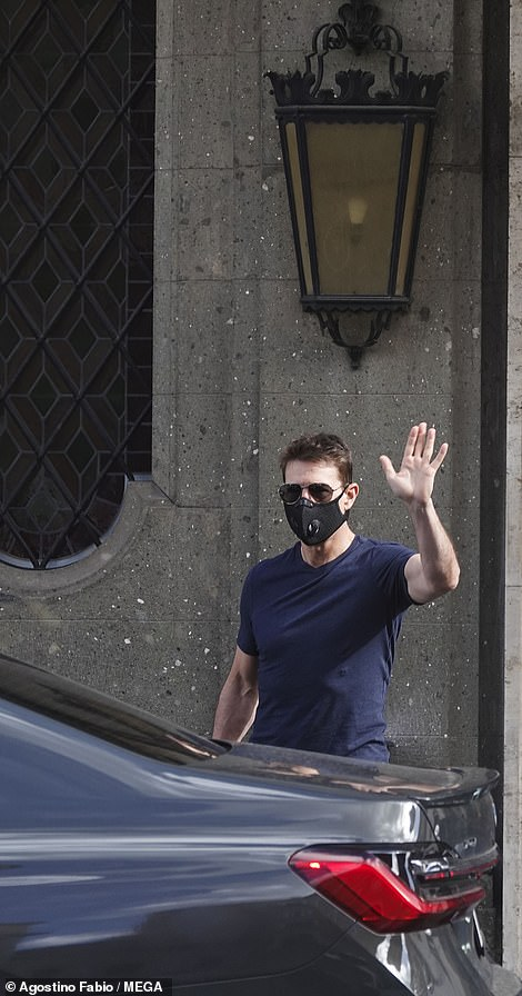 Hi! He also waved to fans as he got out his car