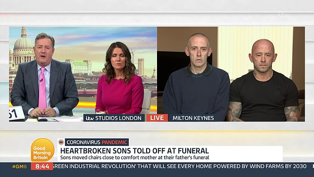 Craig went on to explain that that he had warned staff at the crematorium that he would have to comfort his mother 'if she broke'