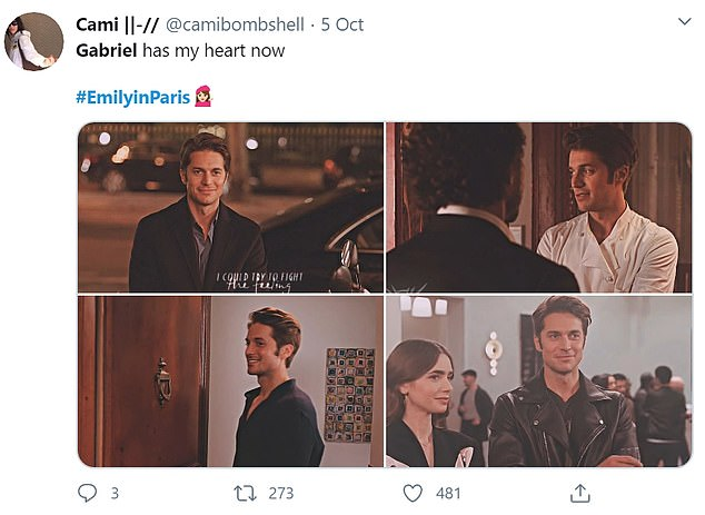 Fans' ovaries 'exploded' thanks to Lucas Bravo's magnetism as Gabriel in the show, with many saying they had fell in love with him