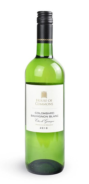 We reported how Mr Hancock arrived at the MPs-only bar just before a 9.40pm vote on Monday, October 5, ordered a glass of white wine (file image) and made a tasteless joke about Public Health England losing nearly 16,000 positive coronavirus tests