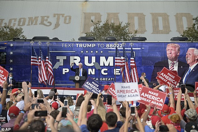 Florida is a state the president has to win if he wants a second term in the White House - Vice President Mike Pence campaigned in the state on Saturday