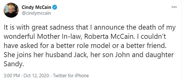 John's wife Cindy announced the news in a tweet Monday afternoon